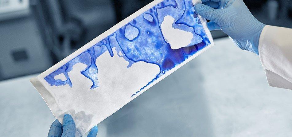 dye-penetration testing process