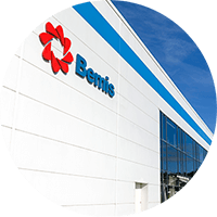 Front of Bemis Healthcare Packaging Europe building in Derry